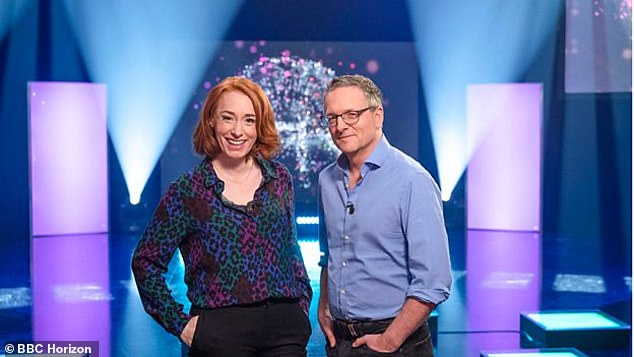 The BBC's online test — developed in tandem with neuroscientists from Imperial College London — has been taken by more than 250,000 people from across the UK. Pictured, presentersHannah Fry (left) and Michael Moseley (right) will present the results of theGreat British Intelligence Test in aHorizon special that will air on BBC Two during May 2020