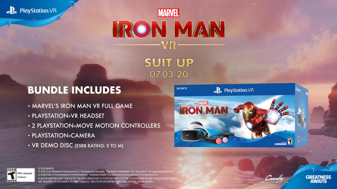 Iron Man VR: paquete de PlayStation VR