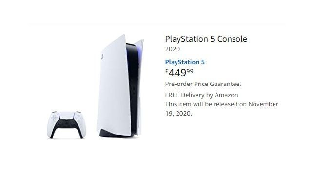 Reserva de PS5 en Amazon